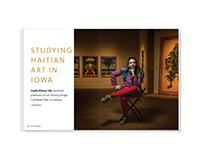 Studying Haitian Art in Iowa – magazine feature design