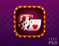 FREE PSD POKER APP ICON