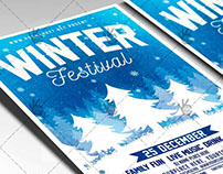 Winter Festival - Seasonal Flyer PSD Template
