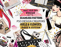 Girls and fashionable patterns