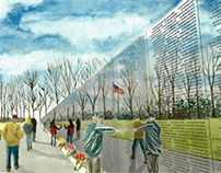 Vietnam Memorial Watercolor