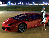 Lamborghini Aventador 🚘 3D illustration