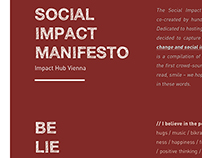Social Impact Manifesto | Impact HUB Vienna