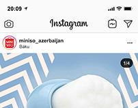 Miniso Azerbaijan Instagram posts