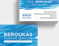 Beroukas Painting Services Business Card
