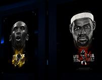 Fan art: Lebron James & Kobe Bryant
