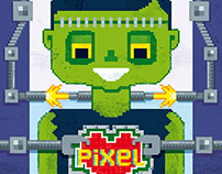 Pixel Love greetng card: Get well soon
