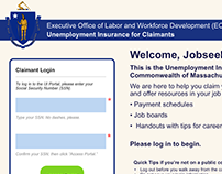 UI for Unemployment Insurance Portal (Massachusetts)