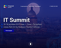 "The website dedicated to the event ""IT summit"""