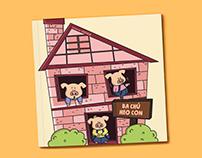 Three little pigs illustration book