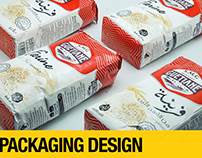 Flour packaging design -Moulins Guetiane