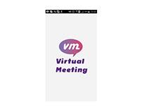 Telas da versão mobile do produto Virtual Meeting