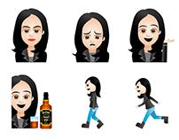 Jessica Jones emojis y caricaturas para Netflix