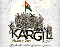 kargil war victory day poster design