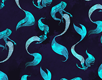 Mermaids - Pattern Design