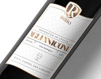 Aglianicone wine label Cantina Russo