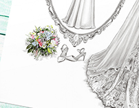 'Eimear' - Wedding Dress Illustration