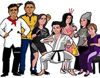 Caricatura Familia Méndez Hernández