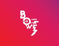 "Music festival identity ""David Bowie"""