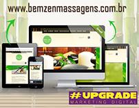 Site em Wordpress para Bem Zen Massagens