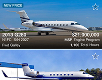 Gulfstream Aerospace: Preowned iOS & Android Apps
