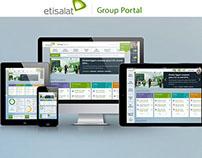 Etisalat Group Portal UI/UX Responsive