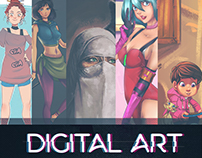 Selected Digital art works for a group of Palestinian