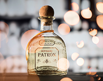 Patrón Reposado Tequila Product Photography