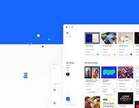 A whiter Behance - Redesign Project