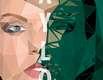 Taylor Swift Low Poly Vector Design.