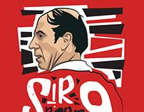 Sir Bobby Charlton Illustration