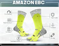 Amazon EBC Design for Hiking Socks Listing