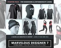 Marvelous Designer 7 Tutorial STARTER PACK