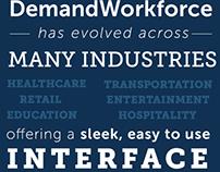 Demand Workforce typographic social media post.