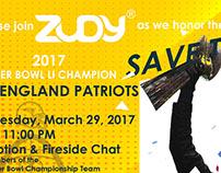 New England Patriots: Zudy Event Post