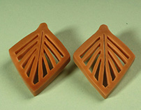 Carved Tagua Nut Earrings