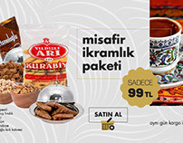 Ecommerce interface design for Turkish traditional food