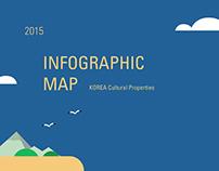 Infographic Map - Korea cultural properties