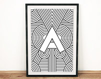 Art Deco Alphabet Prints