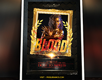 Halloween blood Flyer Template Download Vol - 6