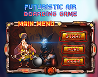 futuristic air boarding game