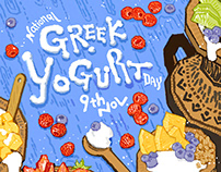 Greek Yogurt Day Poster