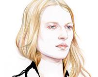 Julia Nobis for Dior couture fw 2015