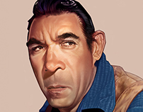 Anthony Quinn Caricature