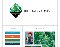 The Career Oasis branding and Squarespace website