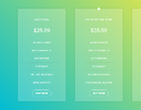 Pricing Table for Bootstrap