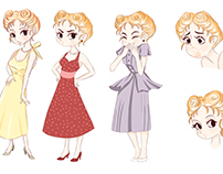 Creación de personajes , Mujer de los años 50.