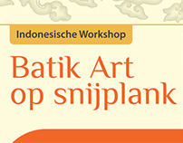 Batik Art op Snijplank - Poster for Belindomag