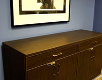 Artopex gray credenza and soft seat lounge