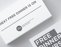 Free Dinner Thursdays - Community Invitation Cards.